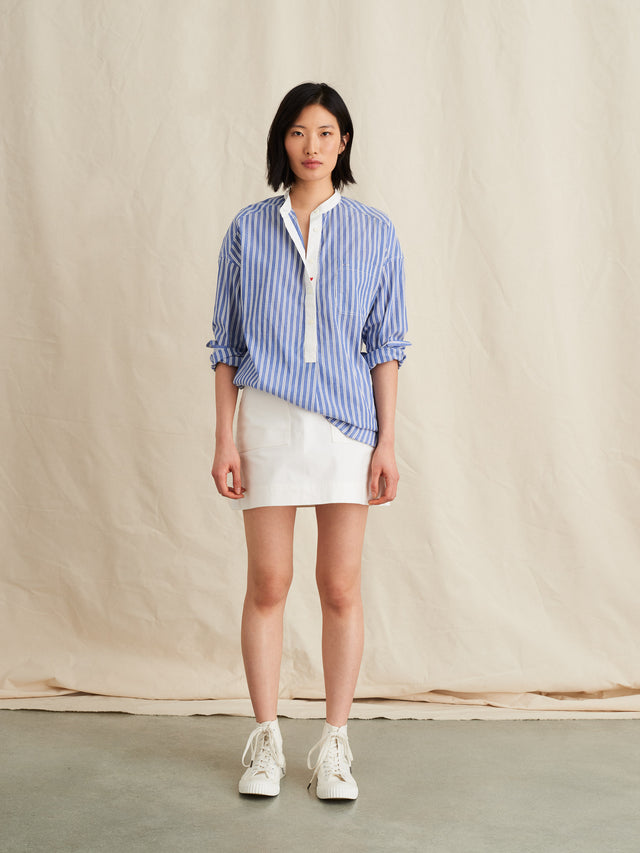Popover Tunic in Striped Portuguese Cotton