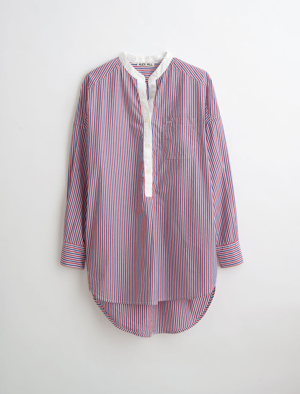 Popover Tunic in Striped Cotton