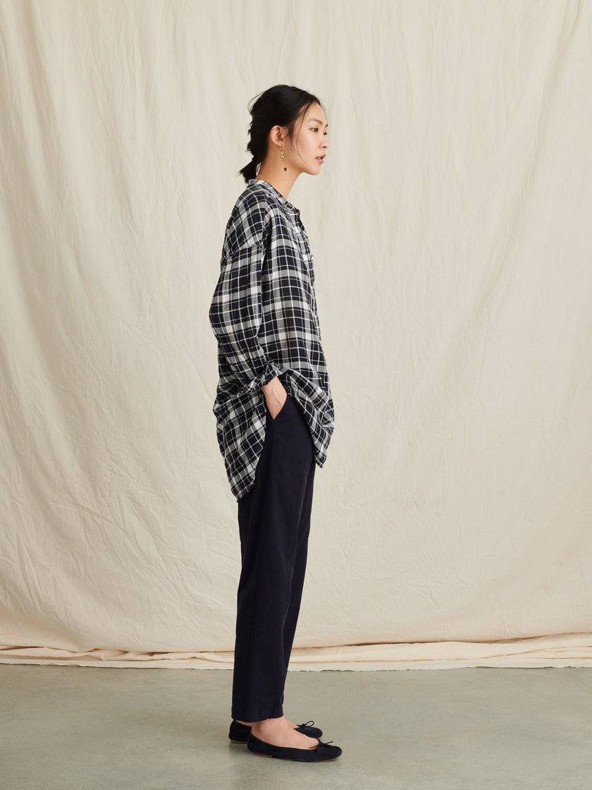 Popover Tunic in Yarn Dyed Plaid
