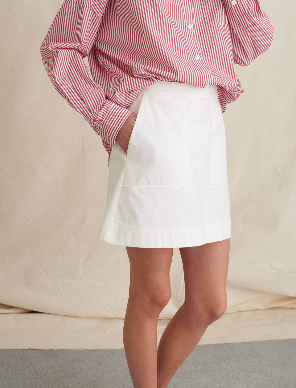 Mini Skirt in Cotton Twill
