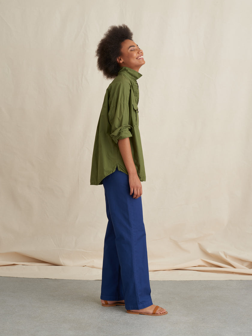 Keeper Oversized Button-Down in Paper Cotton