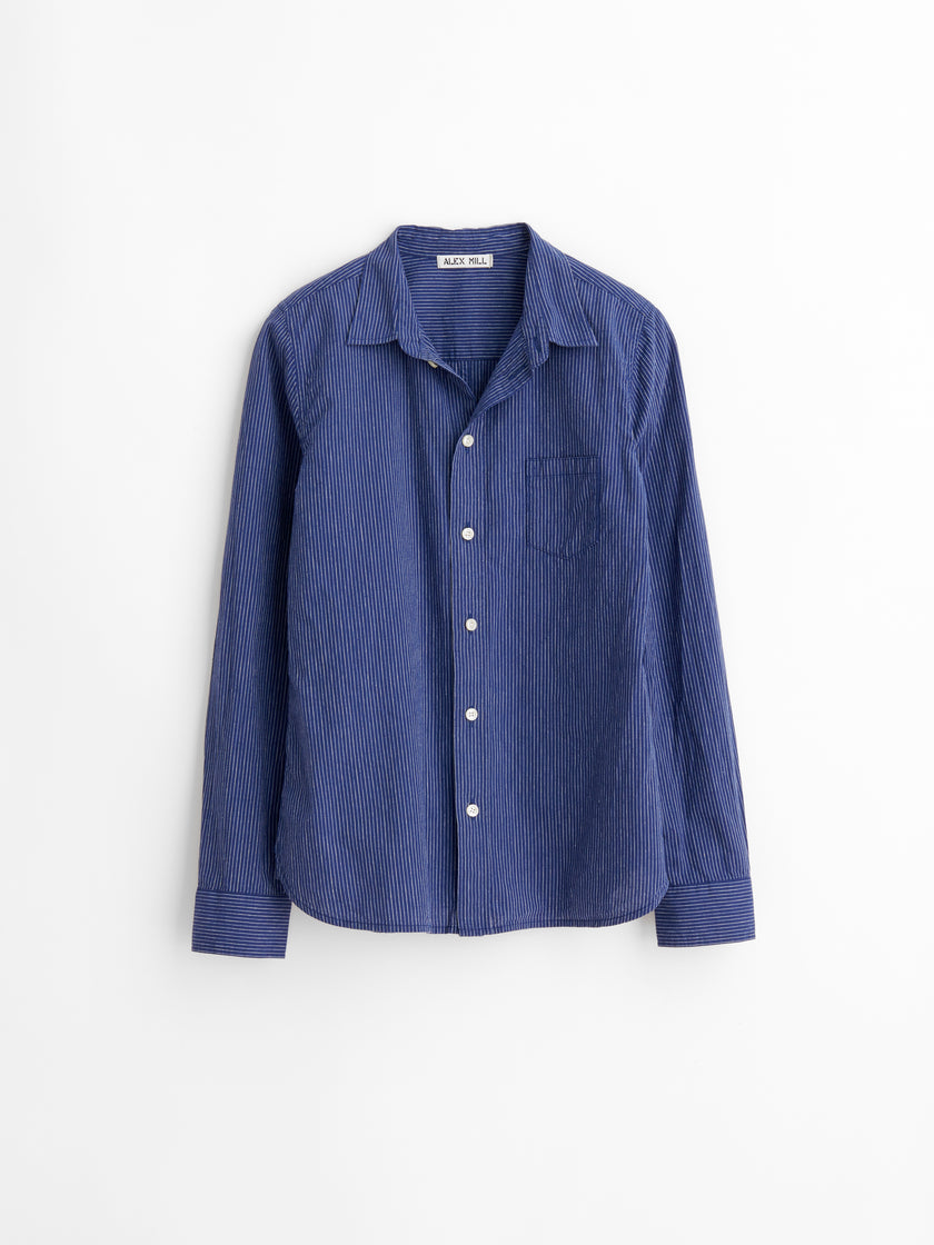 Bobby Shirt in Striped Cotton Linen