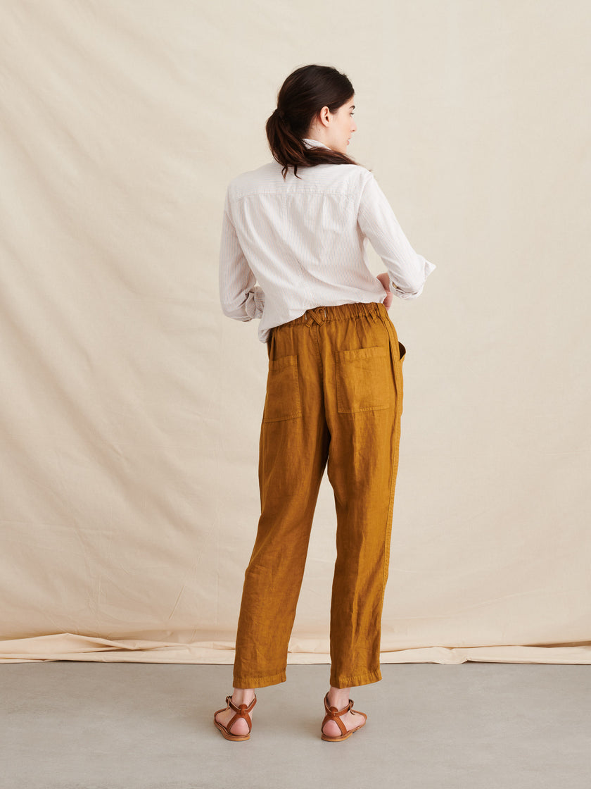 Pull-On Pant in Linen