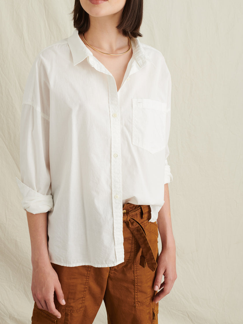 Keeper Oversized Button-Down with Removable Collar
