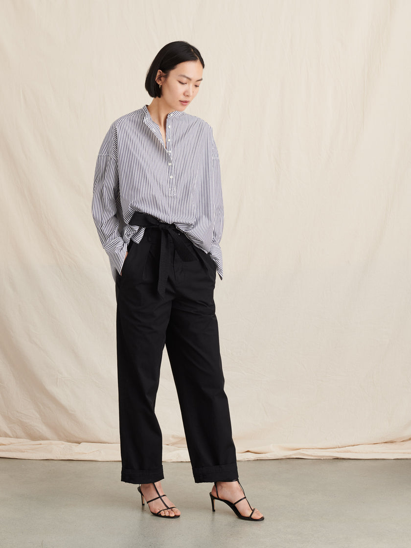 Max Gathered Back Shirt in Stripe