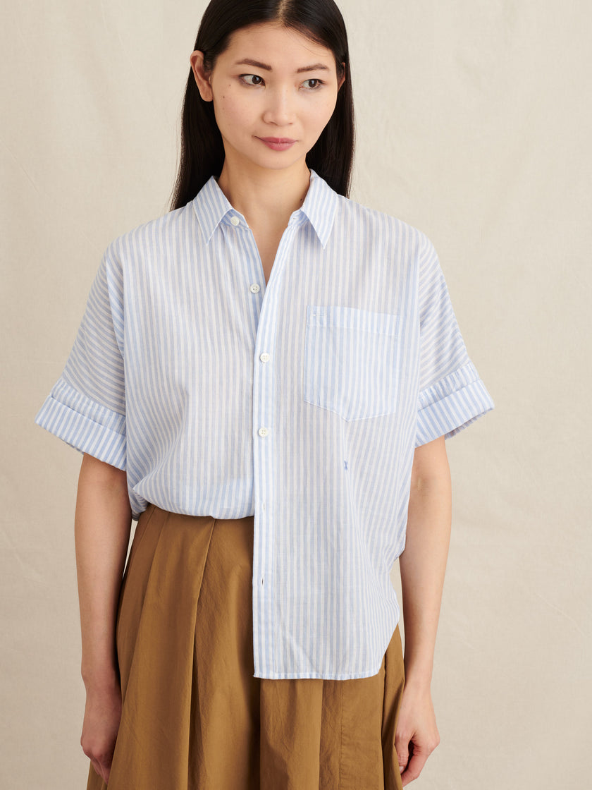 Charlie Shirt in Striped Cotton