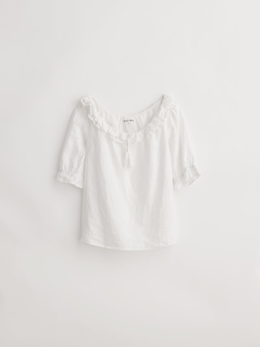 Regan Top in Linen