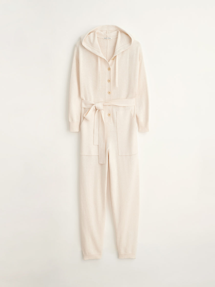 Hooded Sweater Jumpsuit