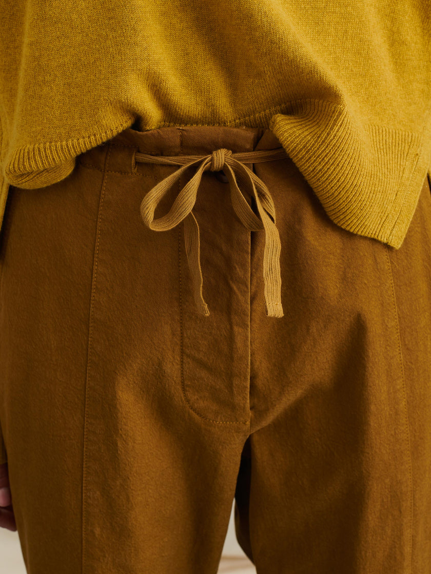 Drawstring Pant in Washed Twill