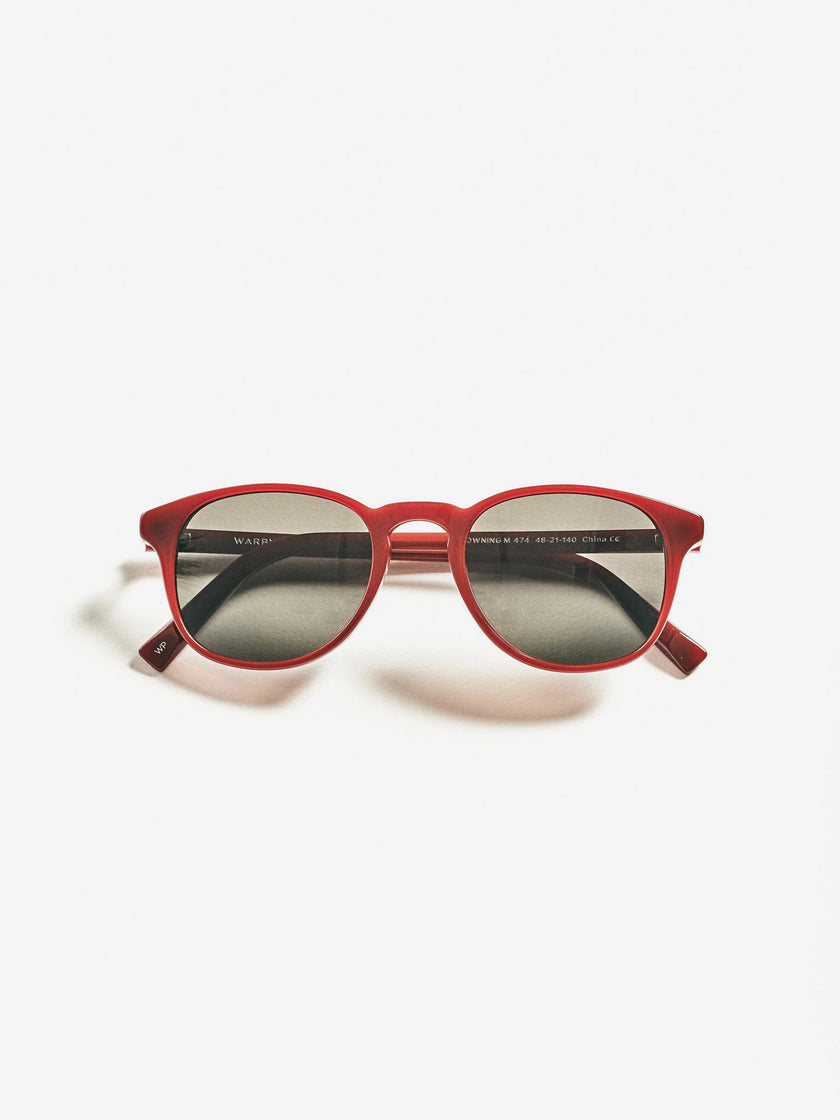 Warby Parker for Alex Mill: Downing Sunglasses in Russet Red