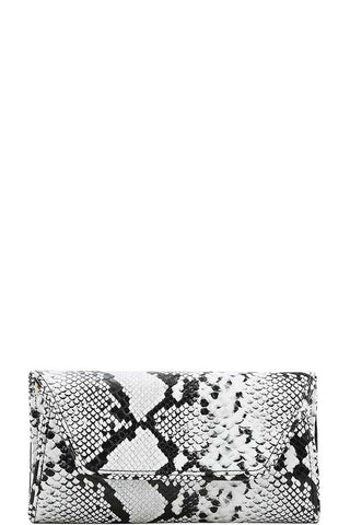 Python Pattern Cross Body Clutch - SerenityChic Black