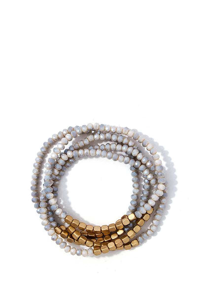 Stacking Beaded Bracelet Set - SerenityChic Natural
