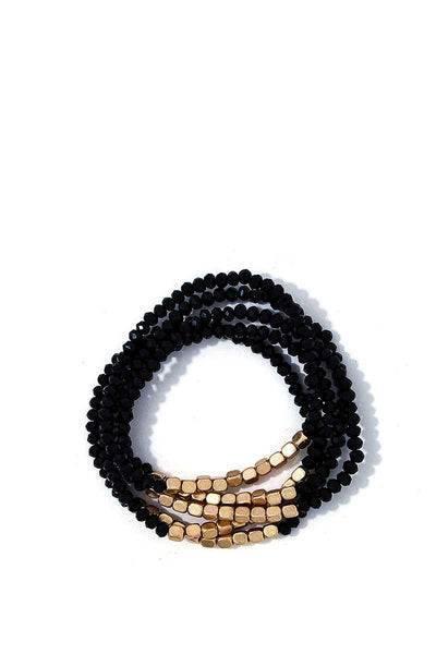 Stacking Beaded Bracelet Set - SerenityChic Black