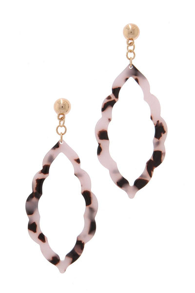 Acetate Moroccan Drop Earrings - SerenityChic Cream