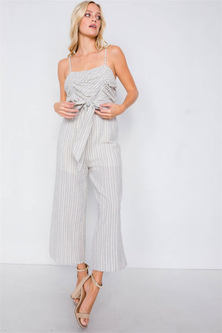 Blue Striped Jumpsuit - SerenityChic