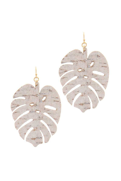 Tropical Leaf Earrings - SerenityChic White