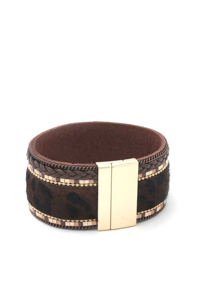 Animal Print Magnetic Cuff - SerenityChic