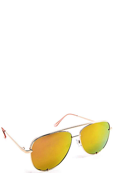 Classic Aviator Sunglasses - SerenityChic Yellow