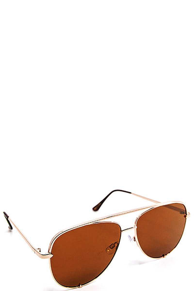 Classic Aviator Sunglasses - SerenityChic Brown