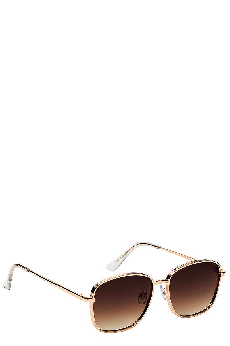 Retro Style Sunglasses - SerenityChic Brown