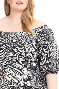 Plus Size Animal Print Bodycon Dress