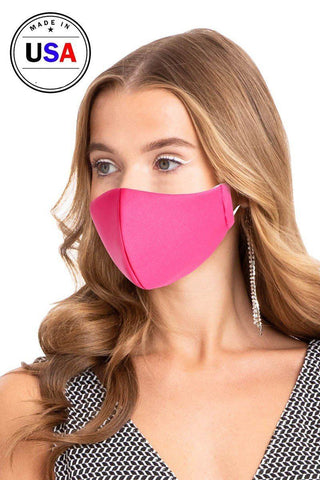 Reusable Water Resistant Face Mask - Pink