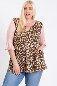 Plus Size Leopard Print Top