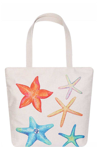 Rainbow Star Fish Tote Bag
