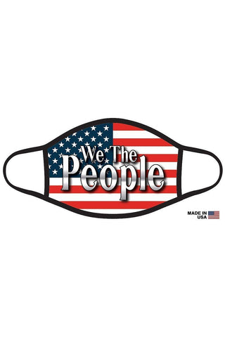 Reusable Graphic Printed Face Mask - Flag - We the People