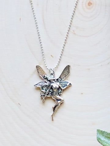 Silver Fairy Goddess Necklace