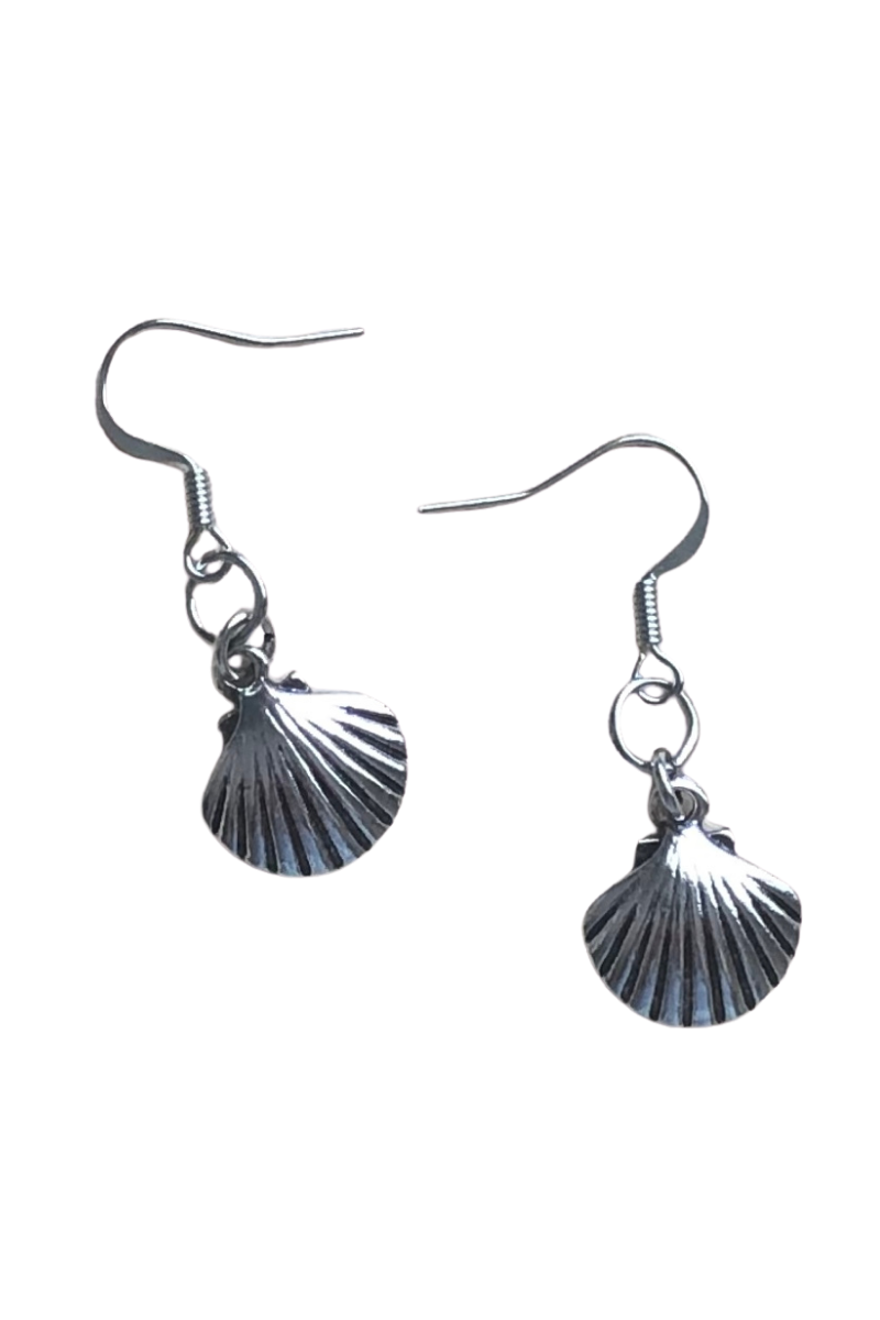 Scallop Seashell Earrings