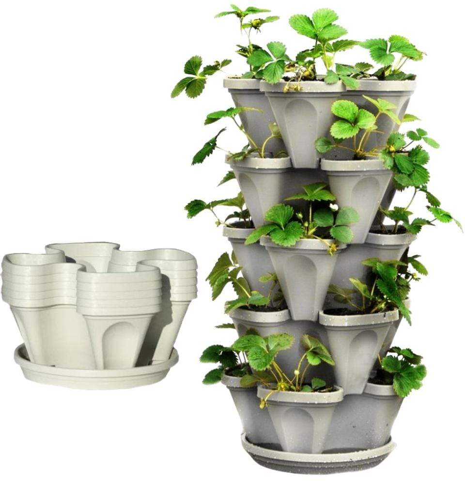 "Mr. Stacky - 5-Tier 13"" Stackable Planter - Champion Landscape Supplies - Planter"