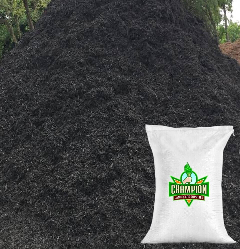 Black Mulch Bag - Champion Landscape Supplies - BAGGED MATERIAL