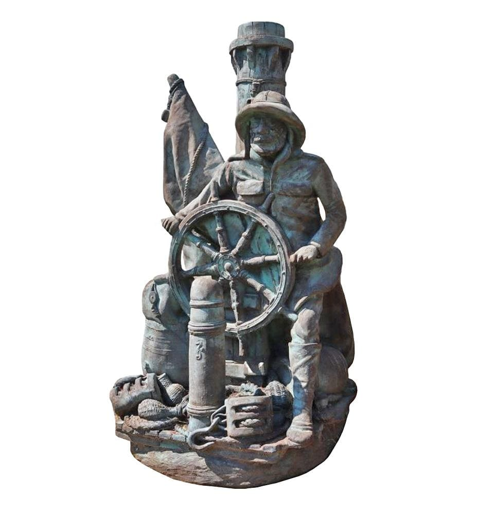 L Captain at Wheel - Champion Landscape Supplies - Scuptures