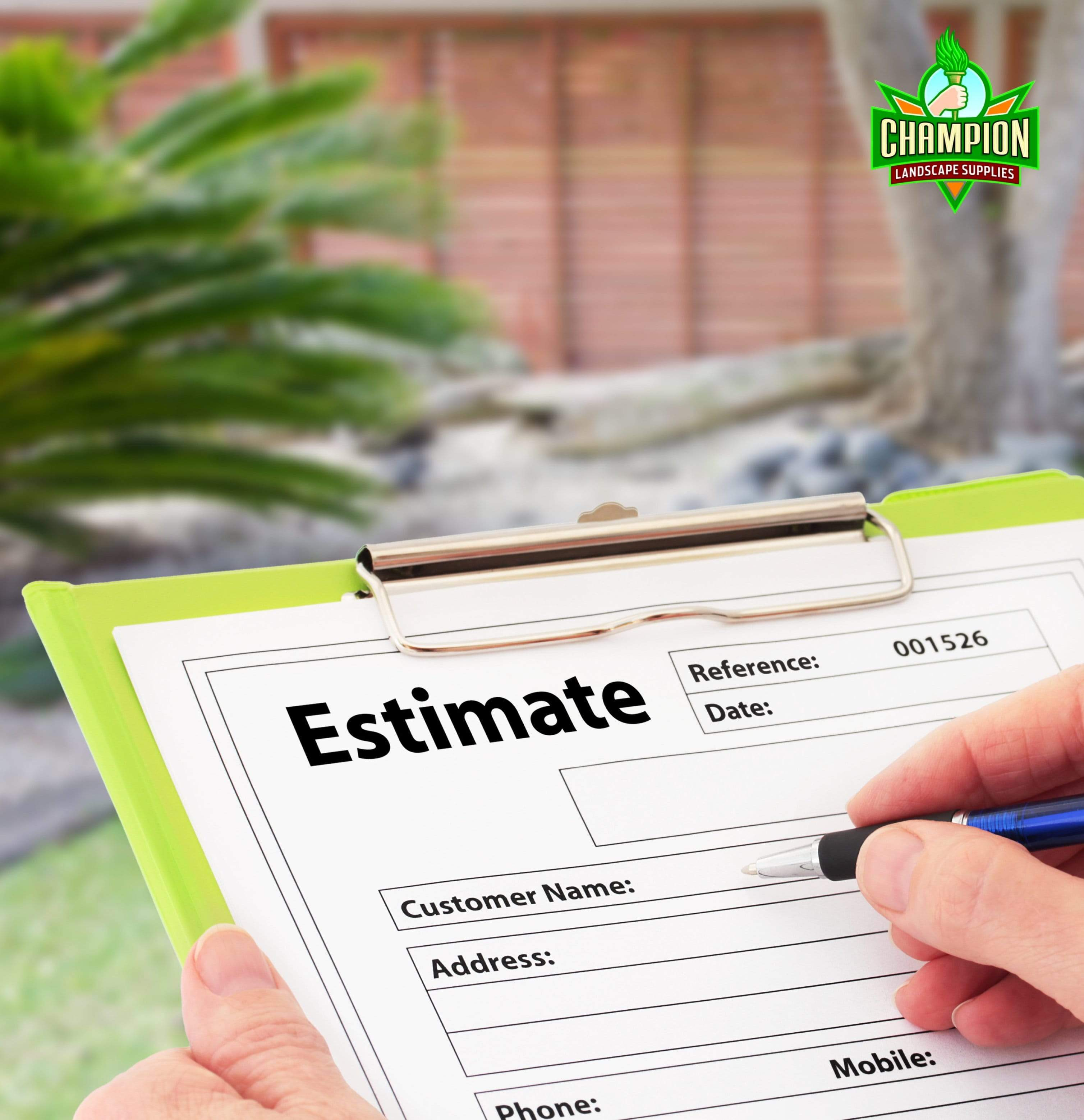 On-Site Estimate Request - Champion Landscape Supplies - On-Site Estimate Request