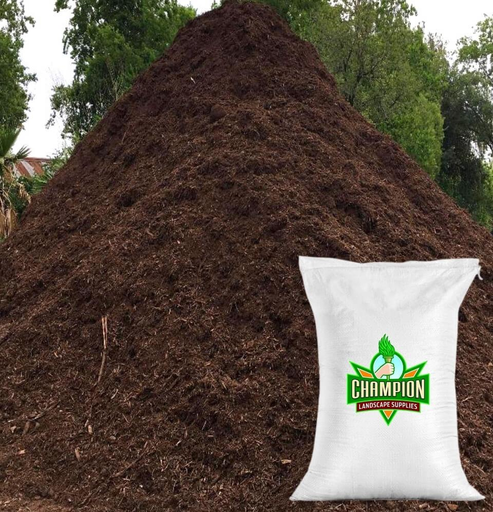Premium Hardwood Mulch Bag - Champion Landscape Supplies - BAGGED MATERIAL