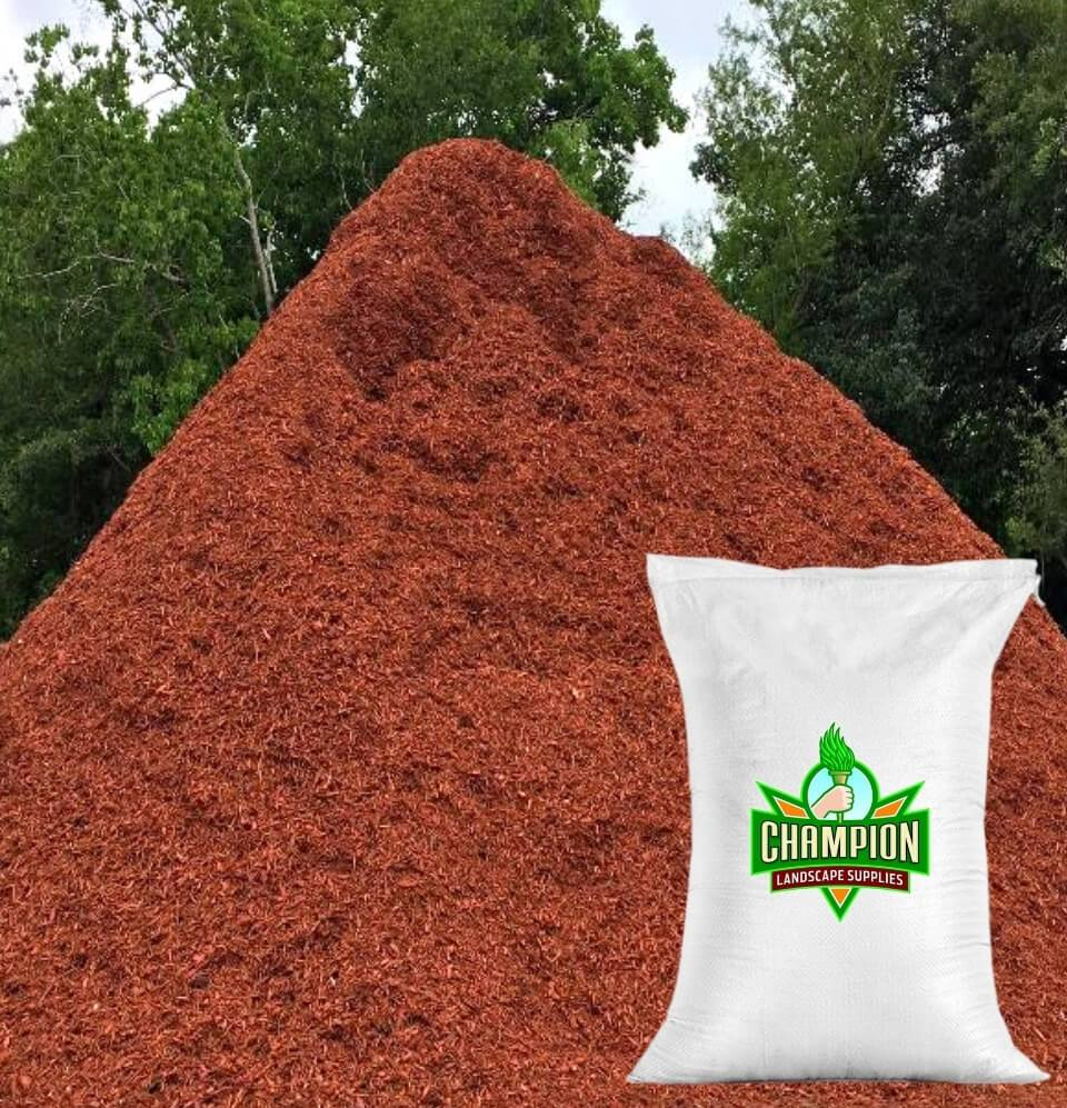 Red Mulch Bag - Champion Landscape Supplies - BAGGED MATERIAL