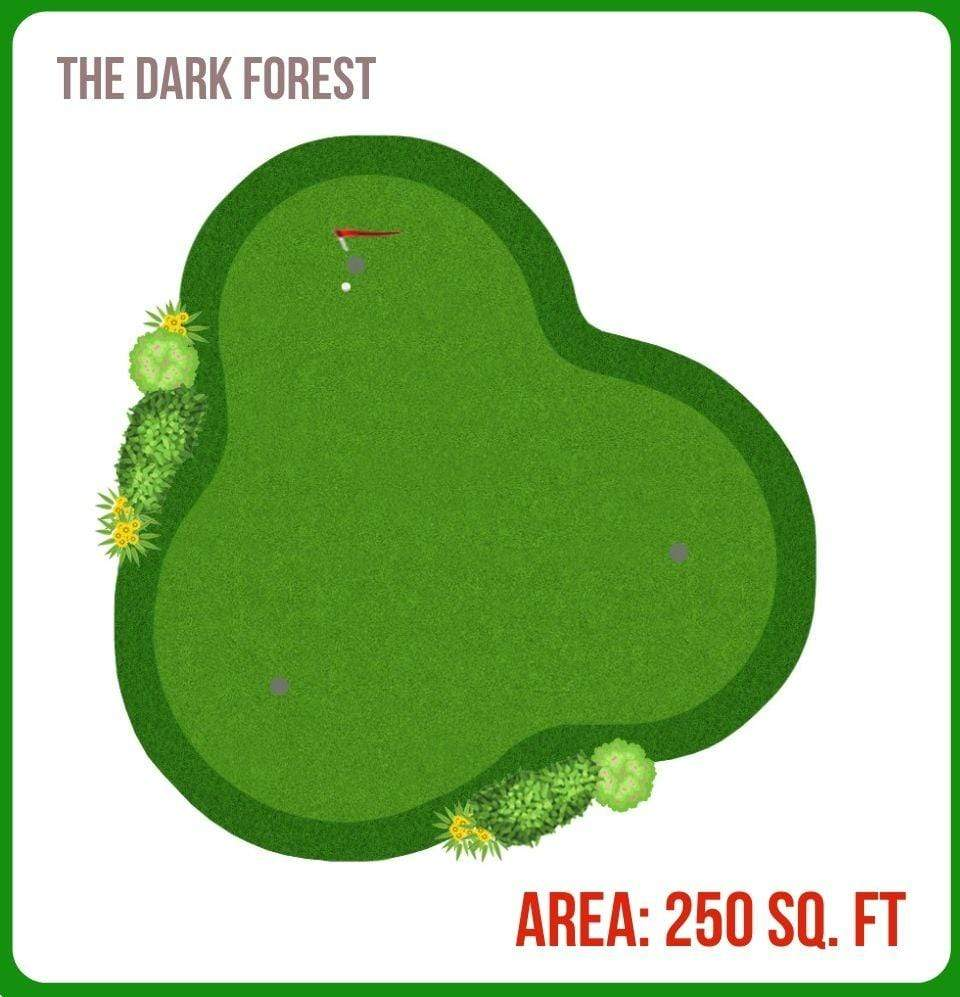The Dark Forest Putting Green 250 Sq. Ft. - Champion Landscape Supplies - SYNTHETIC TURF