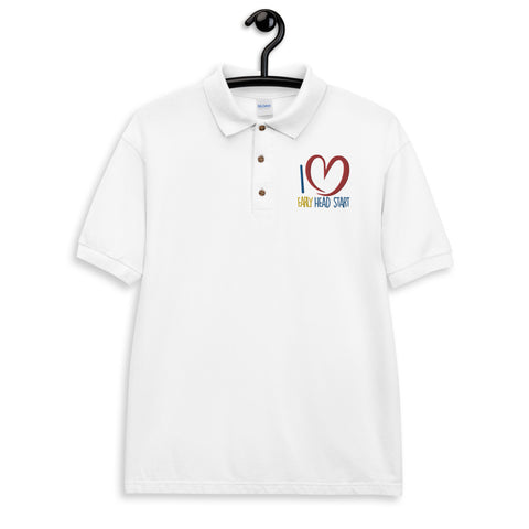 I Love Early Head Start Embroidered Polo Shirt