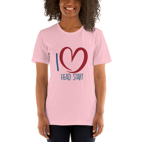 I Love Head Start Short-Sleeve Unisex T-Shirt