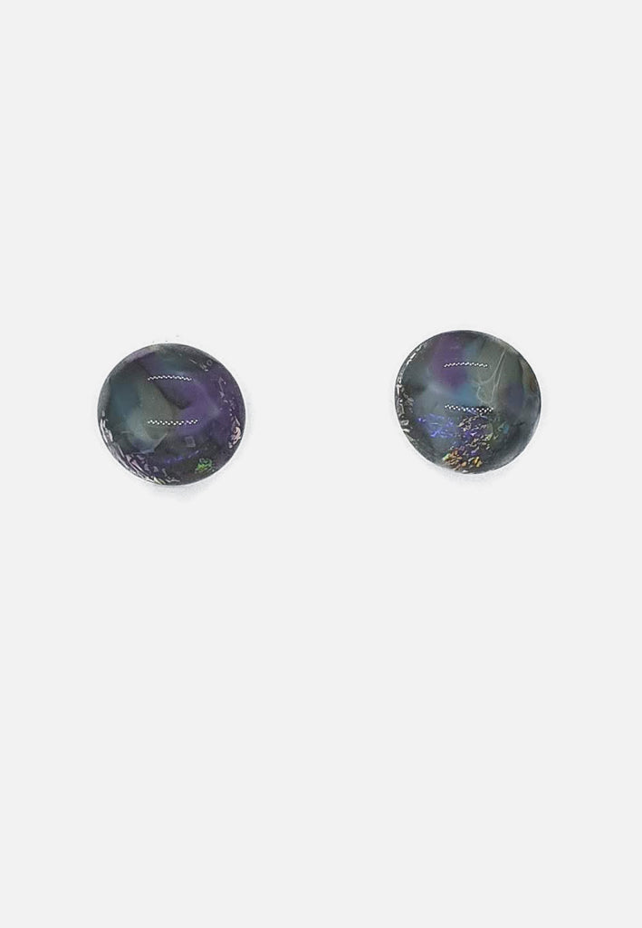 Soft Purple Handblown Glass Stud Earrings