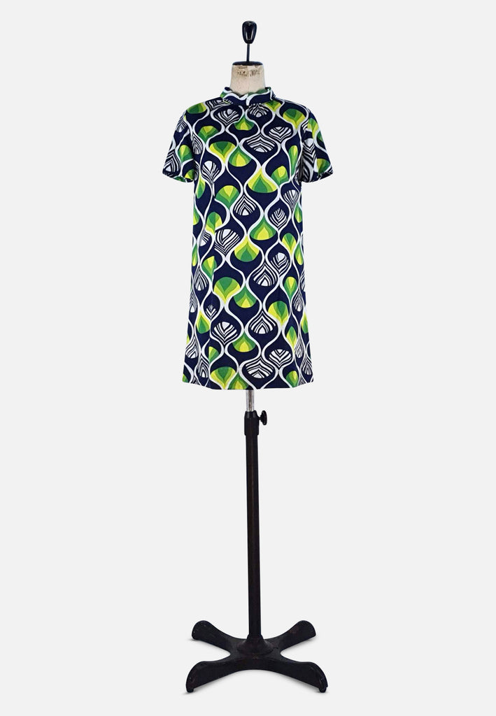 UK Green and Black Patterned Dress