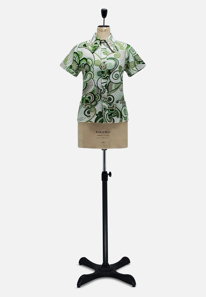 Green 'Lady Lichfield' Swirl Shirt