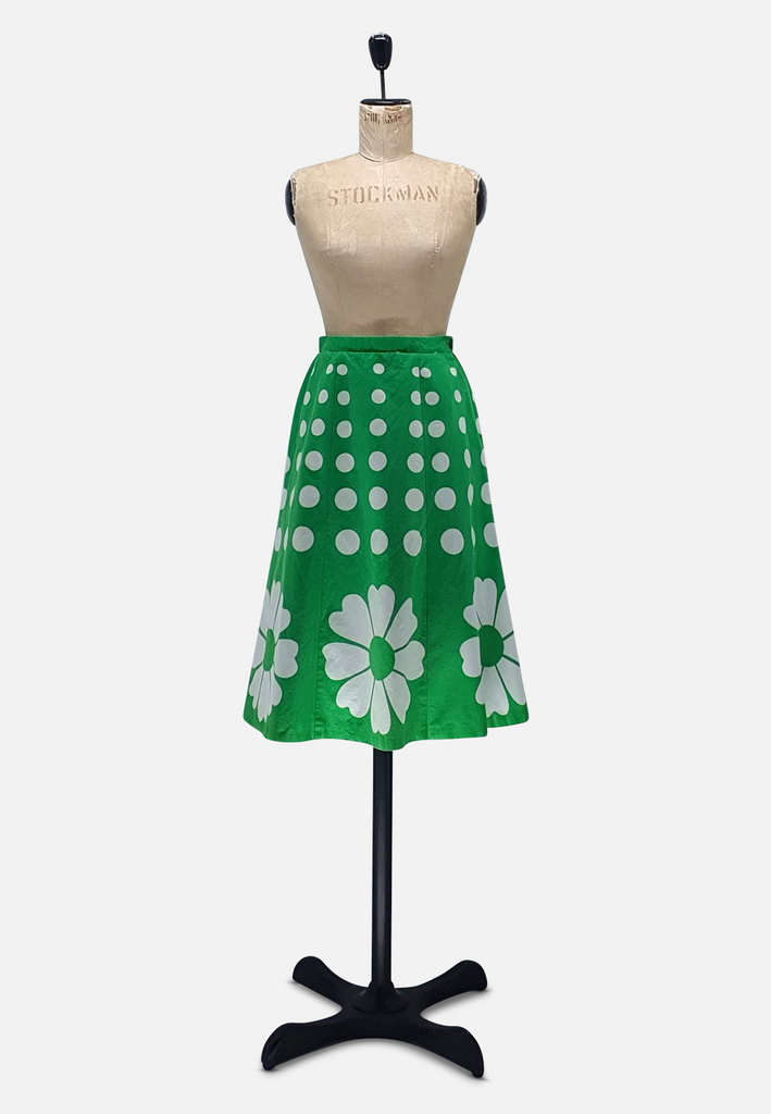 Cheeky Green Floral Skirt