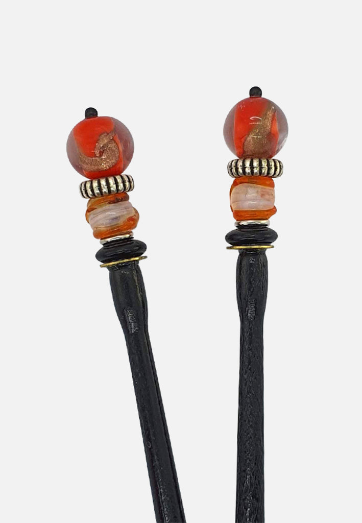 'Poppy' Hairsticks (pair)