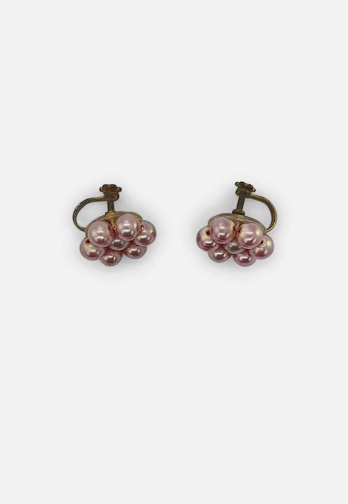 Pink Bubble Earrings (screw-back)