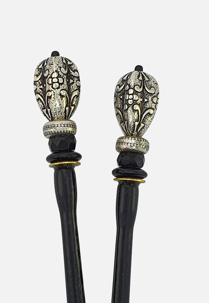 Royal Silver Hairsticks