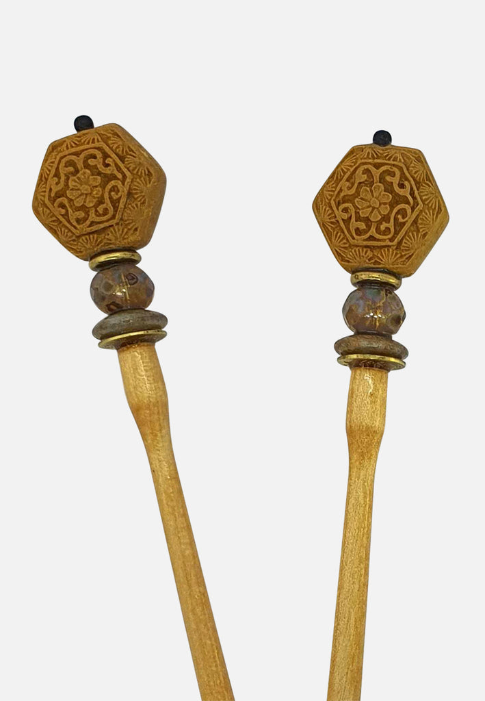 'Mustard II' Hairsticks (pair)