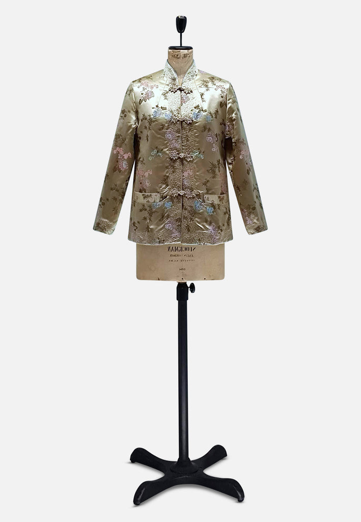 Gold Chinoiserie Silk Jacket