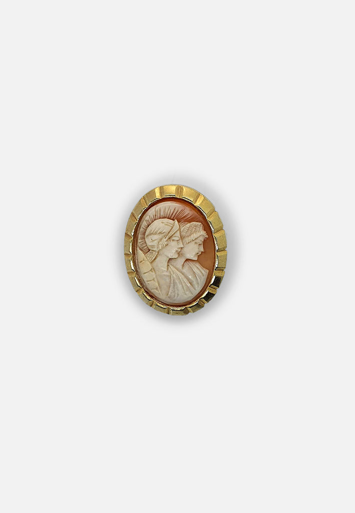 Faux Cameo brooch